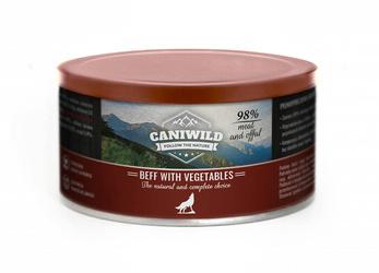 Caniwild Beef with Vegetables – puszka z zamykanym wieczkiem – 410 g