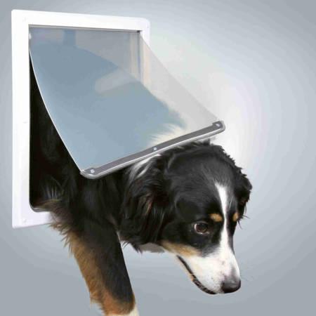 Drzwiczki dla dużych psów Drzwi wahadłowe z giętką i cichą klapą