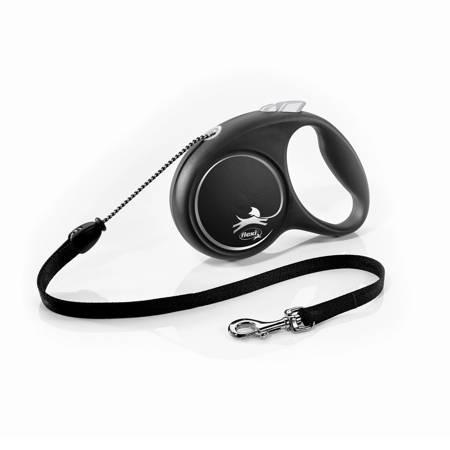 Flexi Black Design Smycz automatyczna Linka Medium 5m czarna