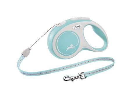 Flexi Smycz automatyczna New Comfort M linka 8m jasno niebieska