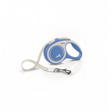 Flexi Smycz automatyczna New Comfort S taśma 5m niebieska