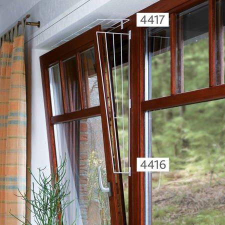 Górna krata zabezpieczająca do okna prostokątna Ochrona góry okna przed ucieczką kota 65cm × 16 cm