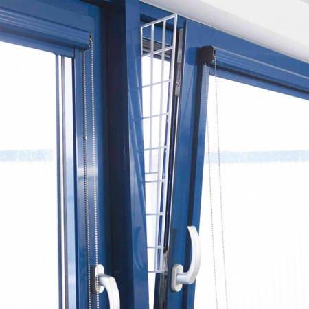Kratka zabezpieczająca boki okna, ochronna krata do okna dla kota Osłona okna przed kotem 62cm × 16/7 cm