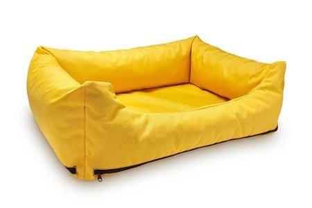 Loftowa modna kanapa, sofa - legowisko wodoodporne z wymiennymi pokrowcami L żółte