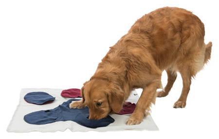Mata węchowa z kieszonkami i przegródkami dla psa lub kota