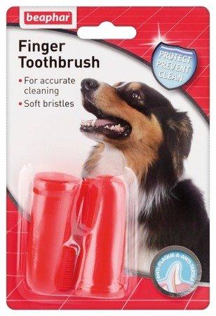 Naparstkowa szczoteczka na palec do mycia zębów dla psa 2 sztuki