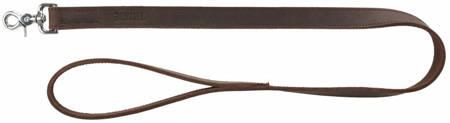 Smycz skórzana Rustic ciemnobrązowa