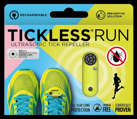 Urządzenie chroniące przed kleszczami z akumulatorem TickLess Run UV Yellow specjalnie dla biegaczy do wielokrotnego ładowania